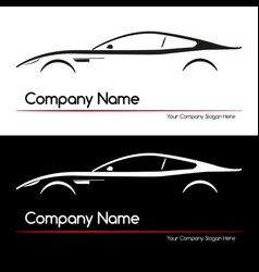 modern executive sports silhouette concept car vector image