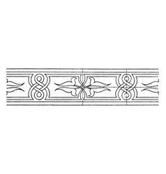 Modern wood intarsia interlacement band is a vector