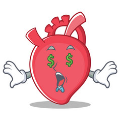 Money eye heart character cartoon style vector