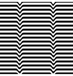 Monochrome movement White black wave line vector