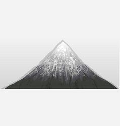 Mountain fuji snow white background vector
