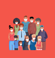 Multiracial and multicultural group people vector