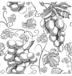 natural hand drawn seamless pattern vector image