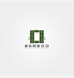 O letter bamboo logo template creative design vector