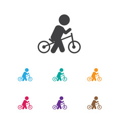 Of child symbol on wheels icon vector