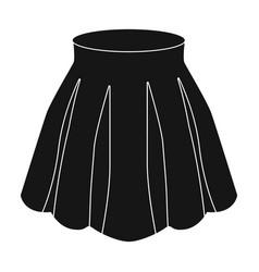 Orange women s light summer skirt with pleats vector
