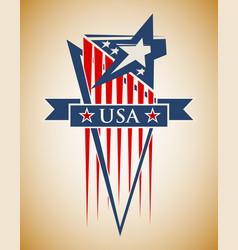 patriotic label usa vector image