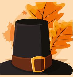 pilgrim hat desgin vector image