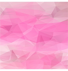 Polygon abstract texture in romantic pink colors vector image