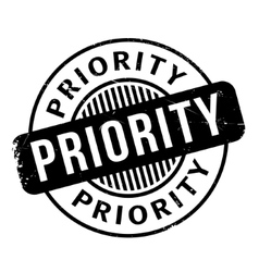 Priority rubber stamp vector image