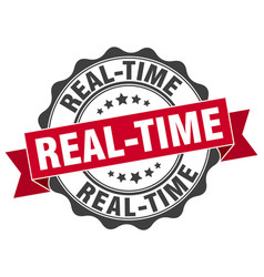 real-time stamp sign seal vector image