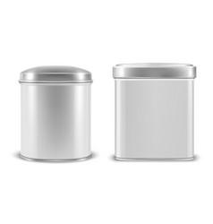 realistic 3d white blank metal aluminium vector image