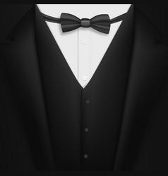 Realistic black suit photorealistic 3d mens vector