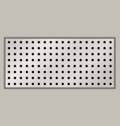 rectangular peg board perforated with round holes vector image