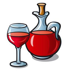 red wine jar vector image