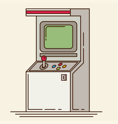 Retro arcade machine flat style vector