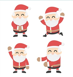 Santa Claus and different poses vector image