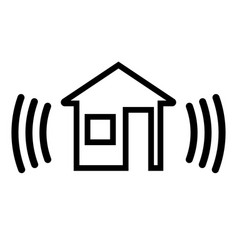 Security alarm in house vector
