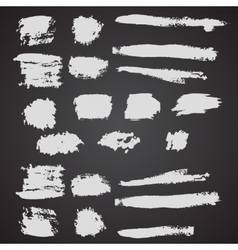 set of grunge broad brush strokes vector image