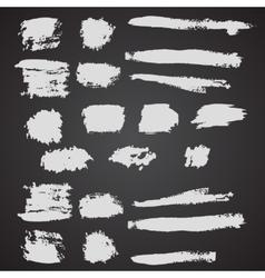 Set of grunge broad brush strokes vector