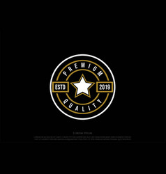 simple minimalist star premium quality stamp seal vector image