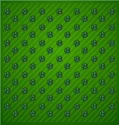 St Patricks Day Green background icon set trefoil vector