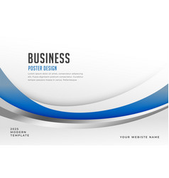 stylish blue business presentation banner design vector image