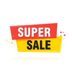 super sale special offer banner vector image