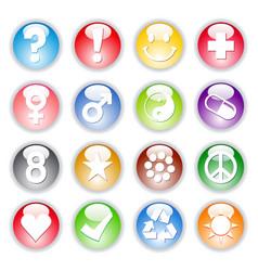 Symbol marbles vector