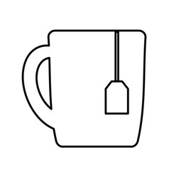 Tea mug icon vector
