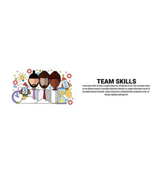 team skills development business concept vector image