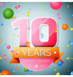 Ten years anniversary celebration background vector