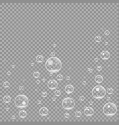 Underwater fizzing air bubbles isolated on vector