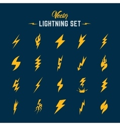 Unusual Abstract Lightning or Blizzard Flat vector
