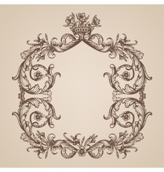 Vintage royal card vector image