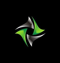 circle 3D shape spin technology logo vector image vector image