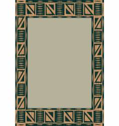 African wooden frame vector image