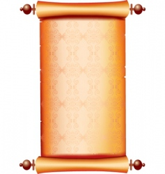 Scroll with painting vector