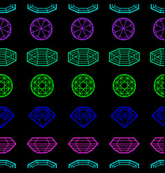 seamless pattern from diamond vector image vector image