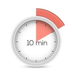 Ten minutes timer vector image vector image