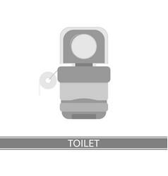 Camping portable toilet icon vector