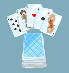 deck of different cards collection on vector image vector image