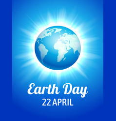 earth day blue poster vector image