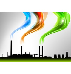 factory white curve rainbow vector image vector image