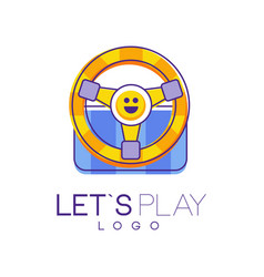 game steering wheel electronic gadget gaming vector image