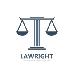 Justice scales lawyer logo vector image