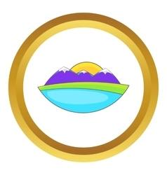 Mountain landscape icon vector