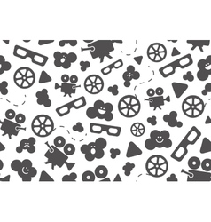 Seamless pattern of movie design elements vector image vector image