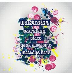 watercolor texture Watercolor spray background vector image vector image