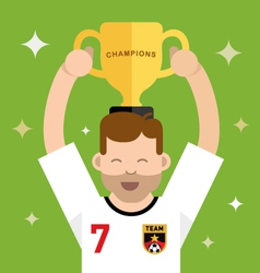 Winning a trophy vector image